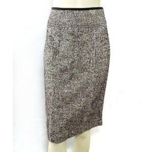 Adec 2 by Phillipe Adec Wool Silk Pencil Skirt